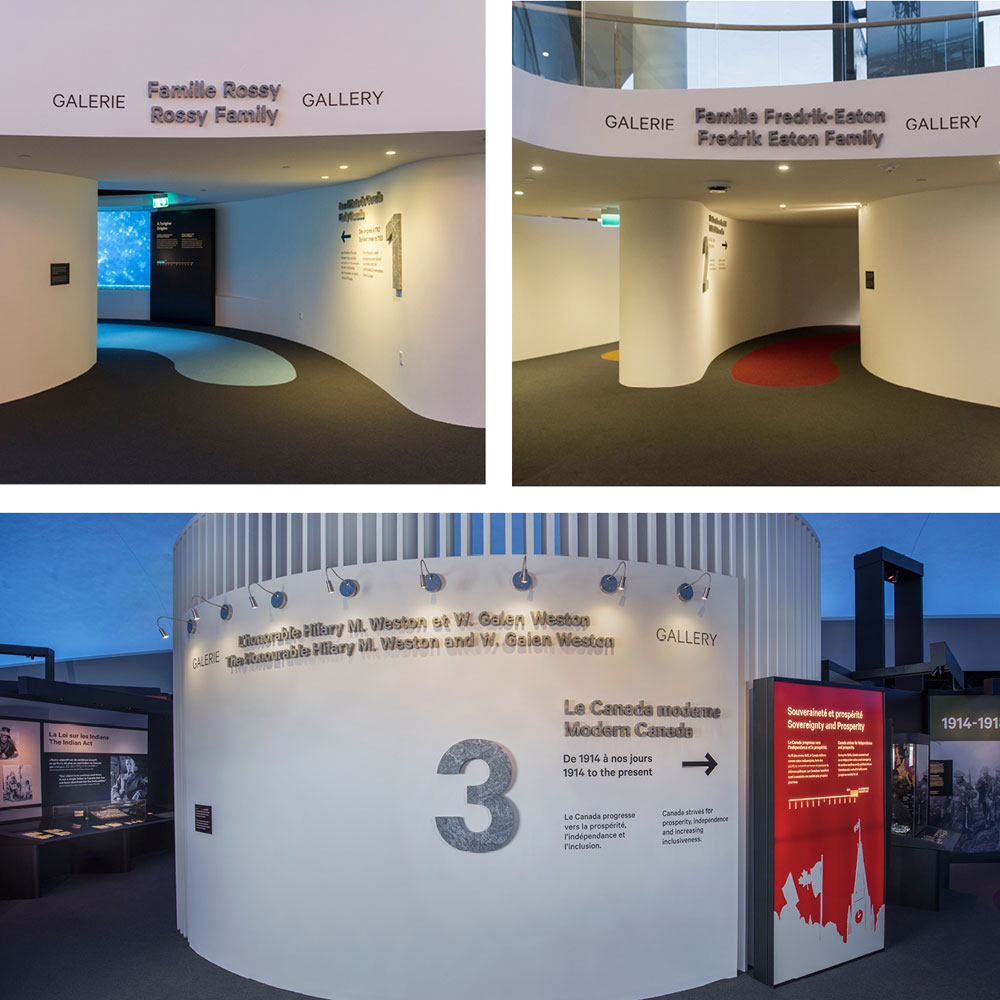 Gallery entrances
