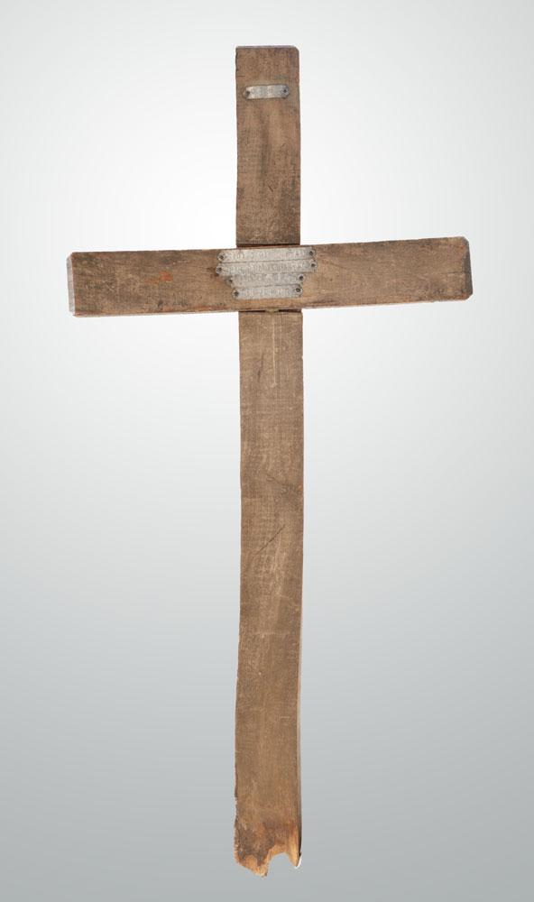 An original 1917 grave marker