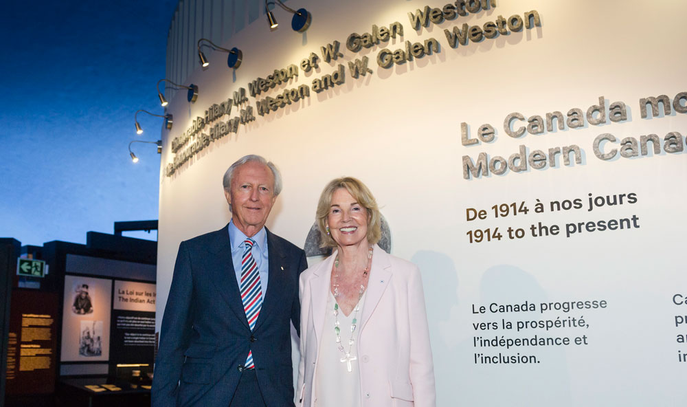 W. Galen Weston and the Honourable Hilary M. Weston