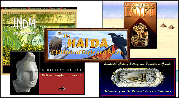 The Virtual Exhibitions page of the Canadian Museum of Civilization
