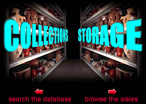 The Collections Storage Landing Page.