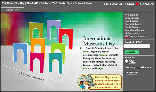 International Museums Day page of the Virtual Museum of Canada