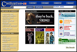 Civilization.ca Home Page