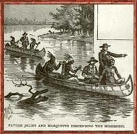 Juliet et Marquette descendant le Mississippi