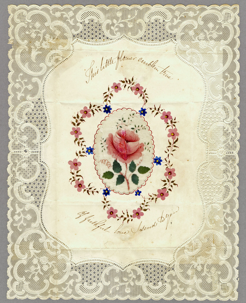 Delicate and beautifully detailed valentine from Joseph Mansell, around 1840. © Canadian Museum of History, 1983.192.10.1, IMG2008-0165-0015-Dm.
