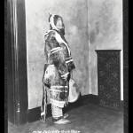 Juliette Gaultier de la Vérendrye wearing an Inuit parka