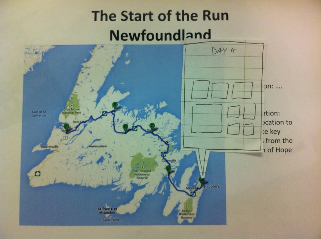 From idea to experience: one example from the Terry Fox ... Map Of Terry Fox Route on laura secord map, fred hutchinson map, samuel de champlain map, mother teresa map,