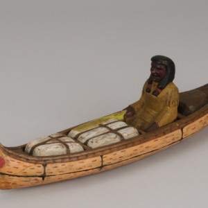 Paddle, a wooden carving made by Bill Mason. Canadian Museum of History, 2010.44.1, IMG2010-0206-0035-Dm