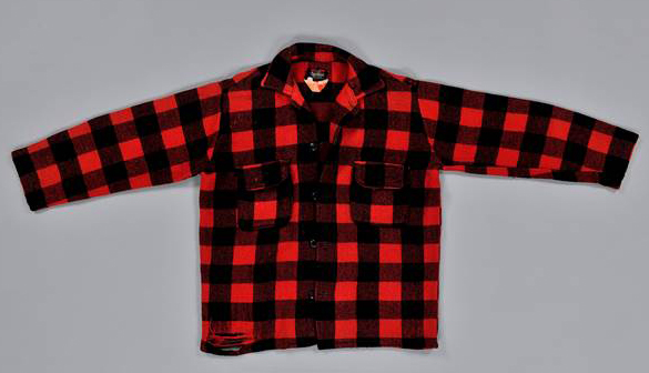 You can see Bill Mason wearing this red checked shirt from the National Collection in this clip. Canadian Museum of History, 2010.7.2, IMG2011-0335-0015-Dm