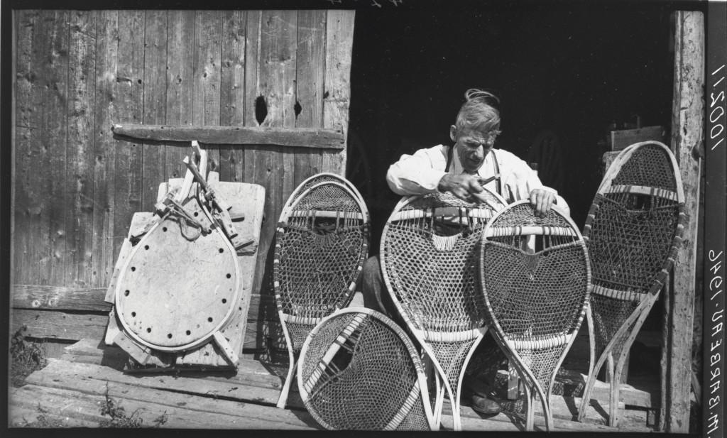 Snowshoe maker Louis Gauthier at his home in Sacré-Coeur