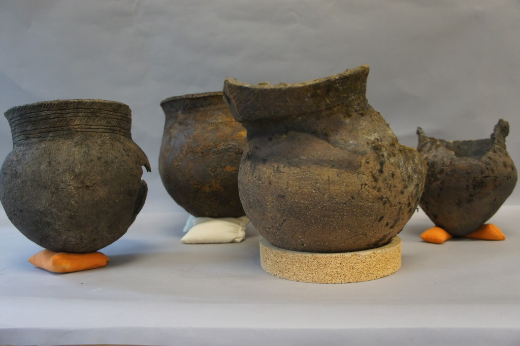 four of the seven recently acquired aboriginal pottery vessels found in the st lawrence river