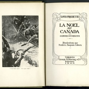 "Title page from La Noël au Canada (""Christmas in Canada"") by Louis-Honoré Fréchette. Canadian Museum of History, IMG2015-0117-0014-Dm"