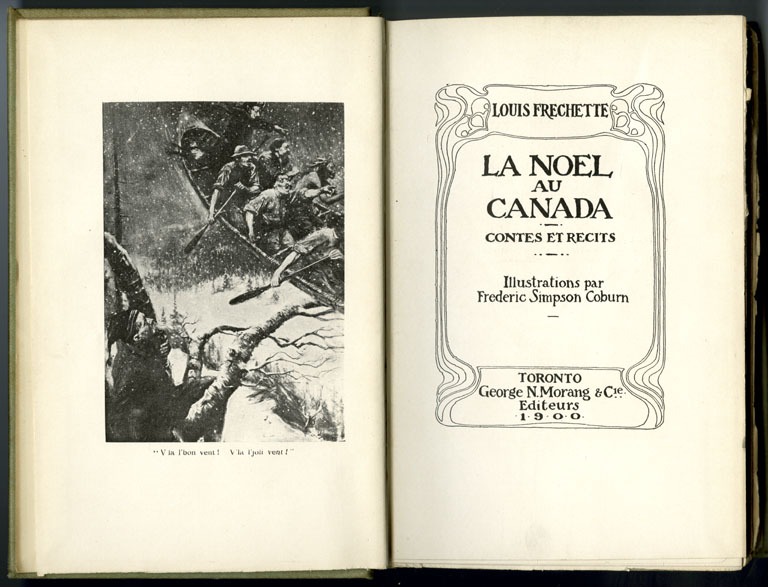 """Title page from La Noël au Canada (""""Christmas in Canada"""") by Louis-Honoré Fréchette. Canadian Museum of History, IMG2015-0117-0014-Dm"""