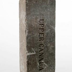 A stone boundary marker