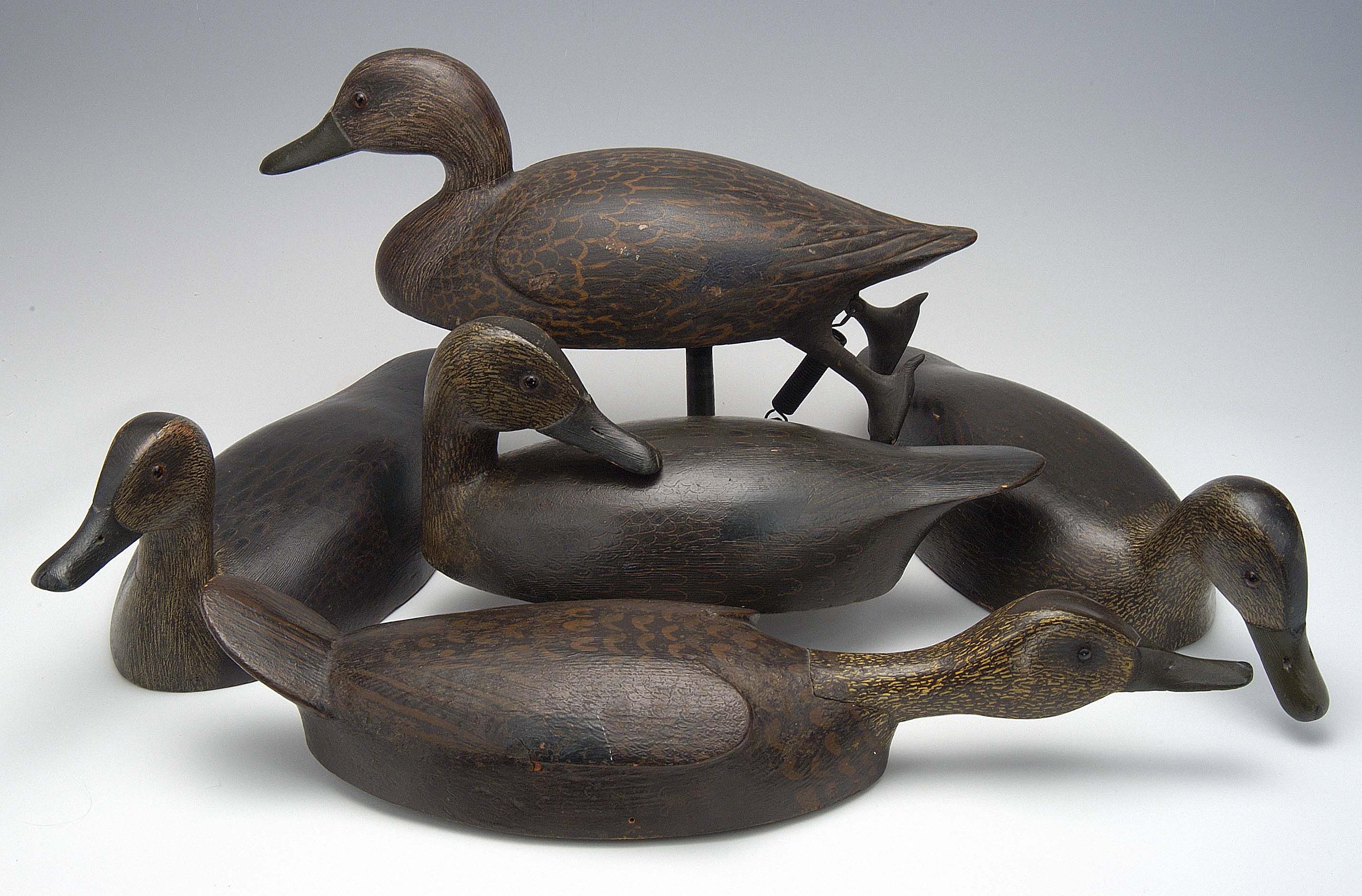 Antique hunting decoys