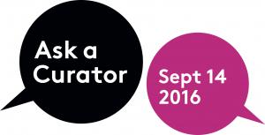 Ask a Curator 2016 logo courtesy of Mar Dixon