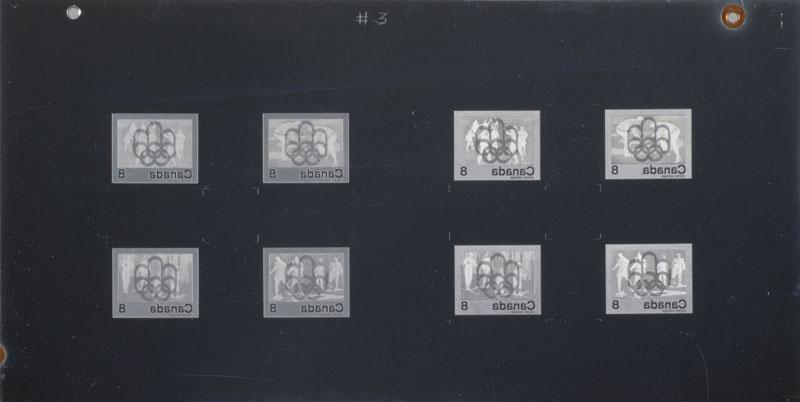 Les plaques d'impression du timbre « Symbole des Jeux de Montréal » Musée canadien de l'histoire, IMG2013-0196-0039-Dm