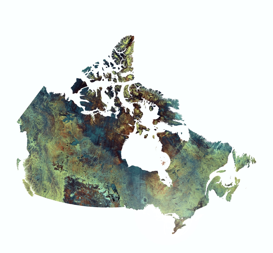 Giant Image of Canada Installed