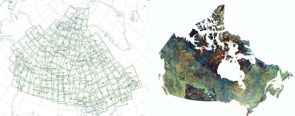 Cartes satellite du Canada