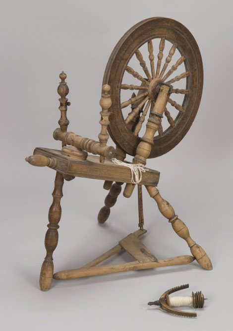Rouet, début des années 1800. Musée canadien de l'histoire, D-8830