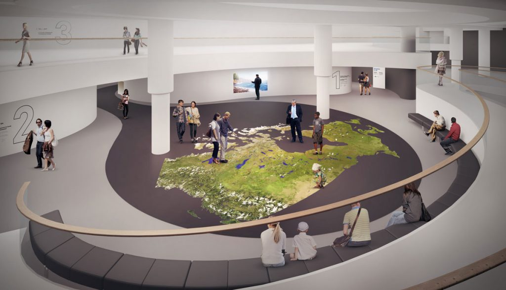 An early design concept for one section of the Canadian History Hall. IMG2014-0106-0008-Dm