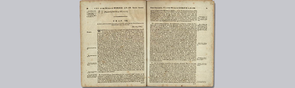 An Act to Prevent the further Introduction of Slaves and to limit the Term of Contracts for Servitude