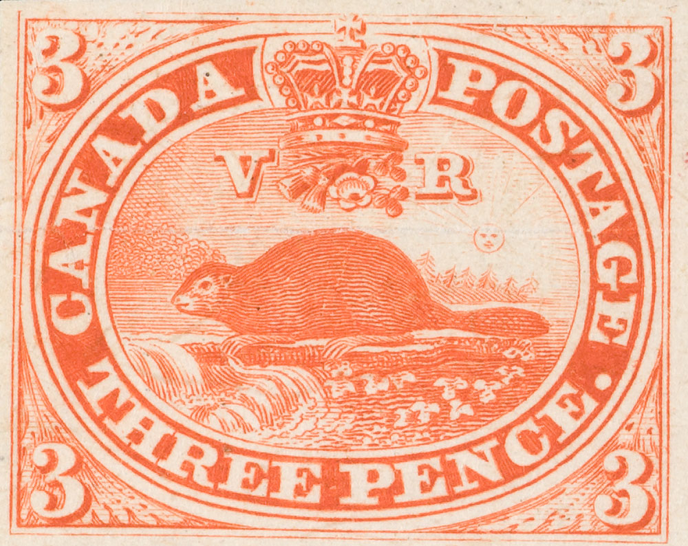 The first Canadian postage stamp
