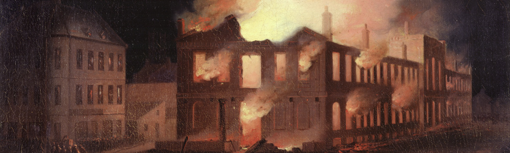 the burning of the parliament building The first and second parliament buildings of upper canada in toronto's old   and burning various public facilities, including government house at fort york,  the.