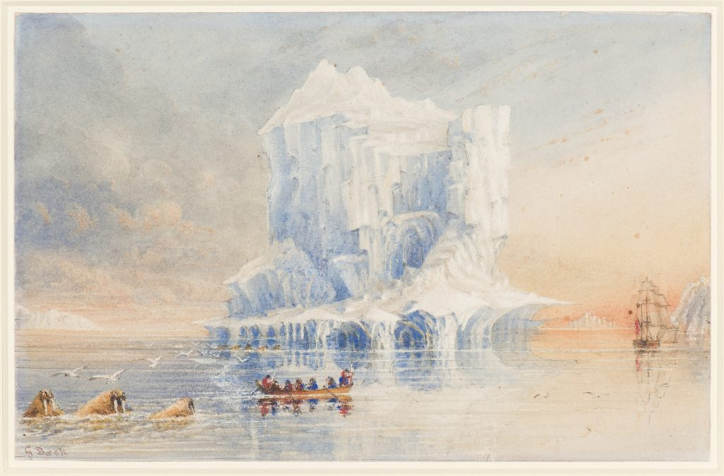 Watercolour of HMS Terror