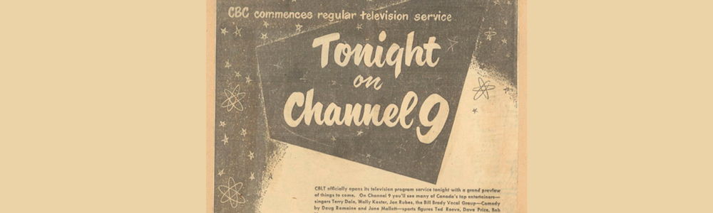 Advertisement for CBC's First Broadcast