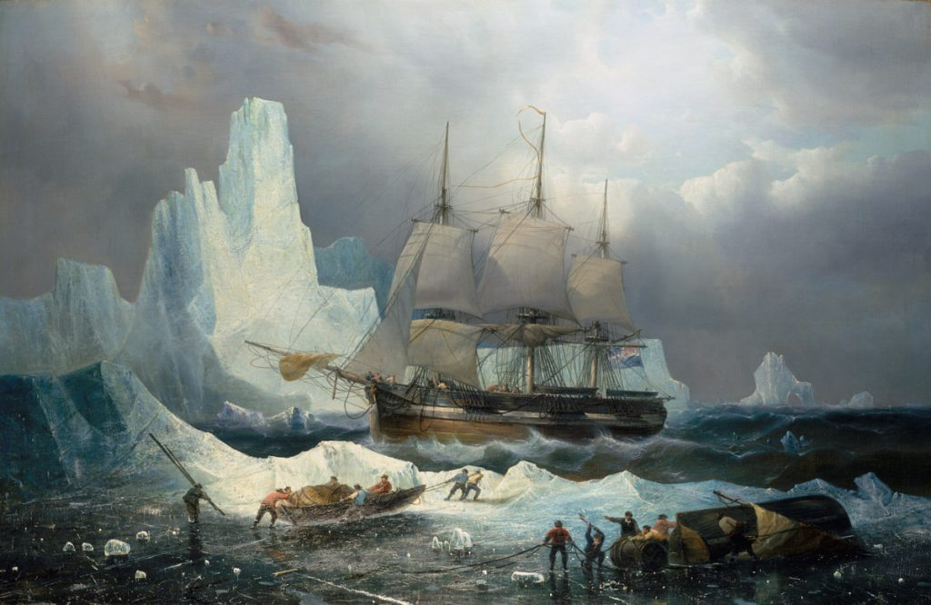 HMS Erebus in the Ice, 1846, François Étienne Musin. © National Maritime Museum, Greenwich, London, Caird Collection, BHC3325