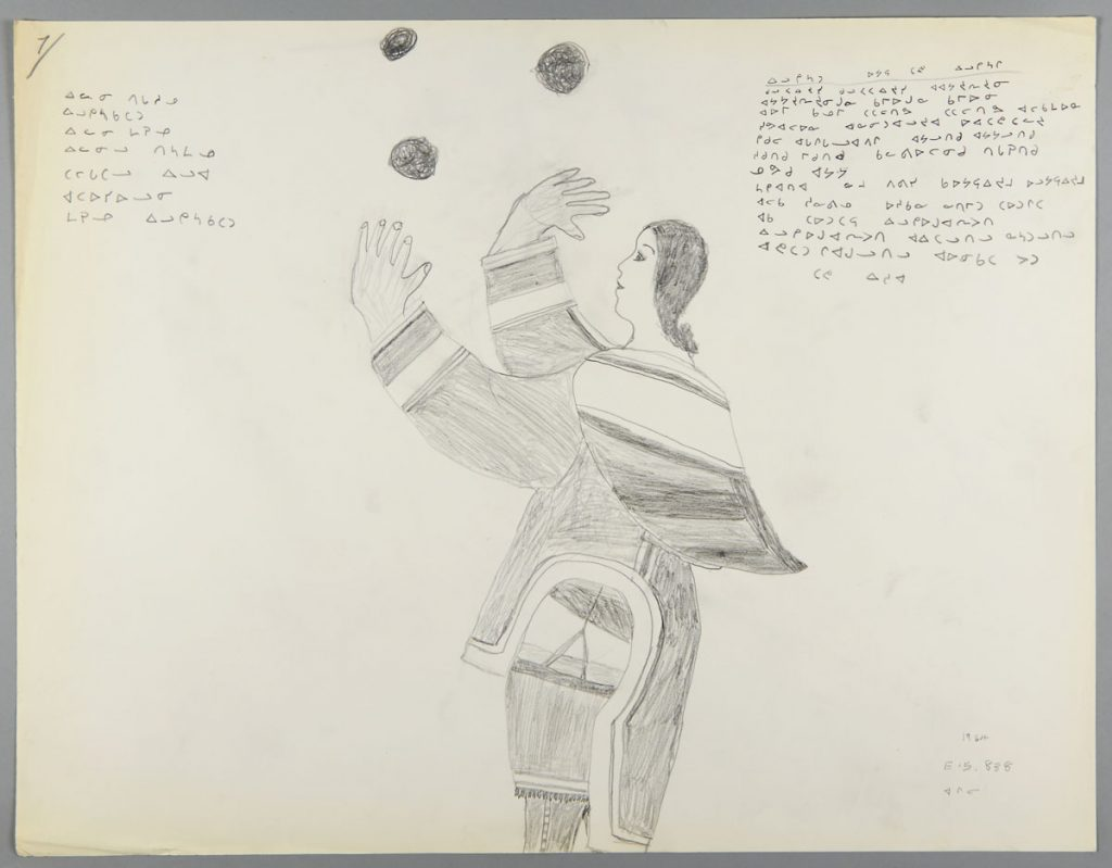 Inuit drawing from the Terrence Ryan collection, now held by the Canadian Museum of History. Canadian Museum History, IMG 2015-0037-0001-Dm
