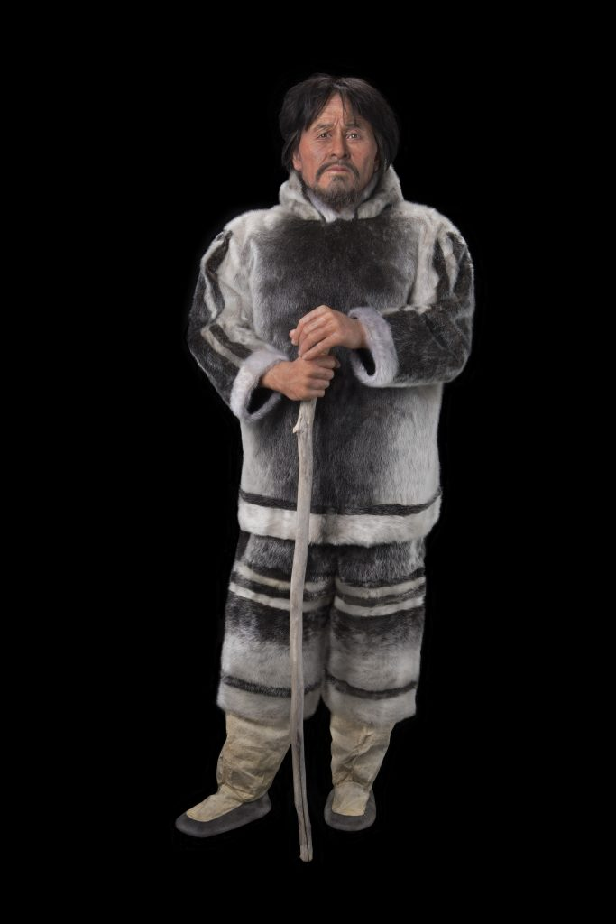 The finished reconstruction of Nuvumiutaq, an Inuit man who lived in the Canadian Arctic 800 years ago. Photo: Canadian Museum of History