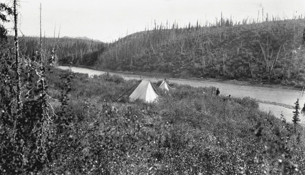 Camp on Pelly River