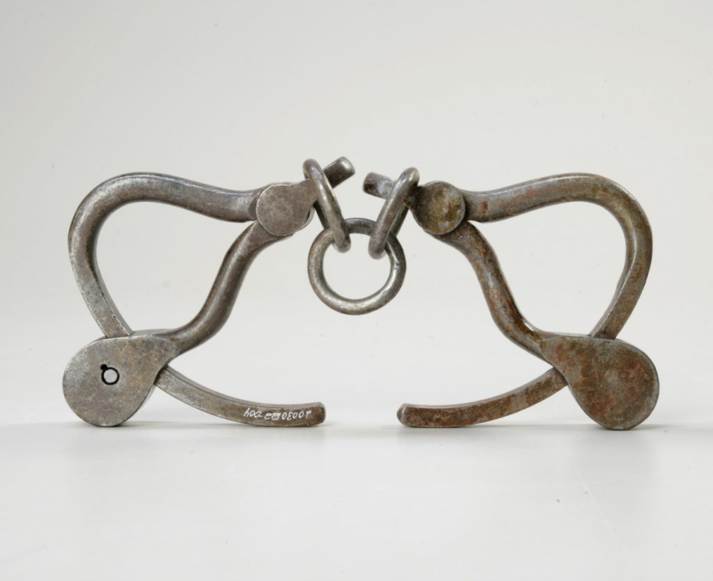 Handcuffs worn by Louis Riel