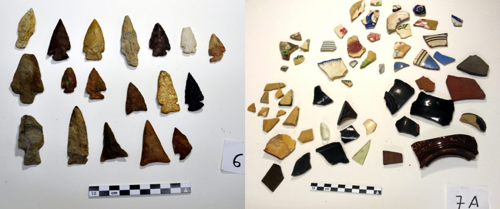 Artifacts brought in by the public at the What's the Point event