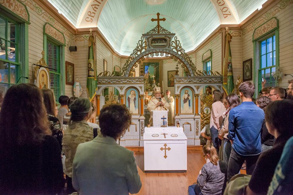 service inside St. Onuphrius