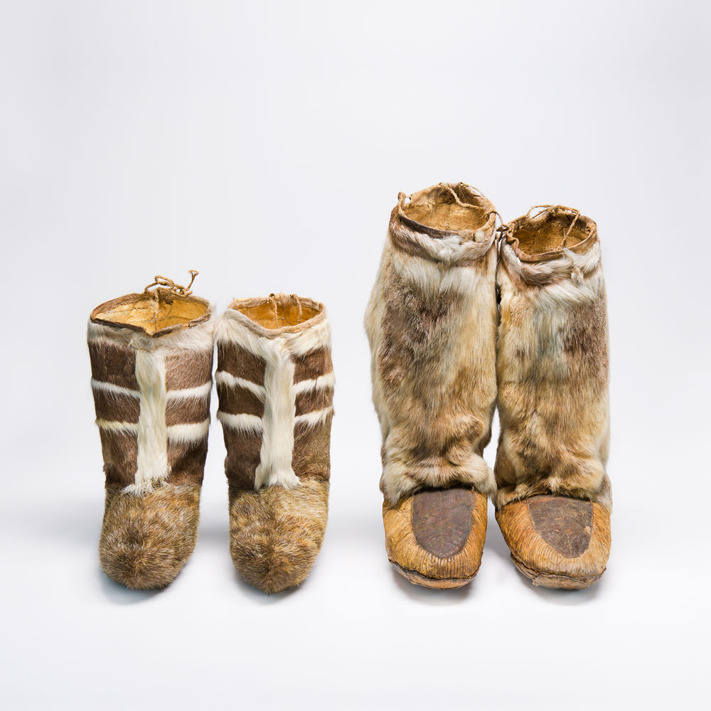 Seal and caribou skinboots