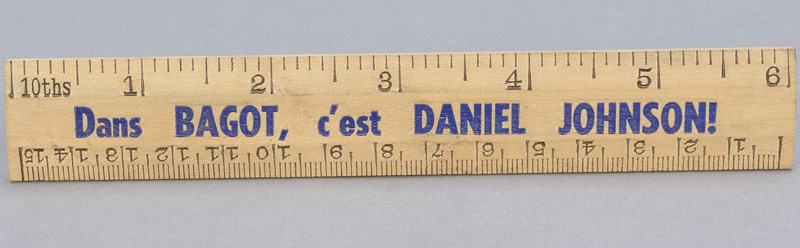 Promotional ruler, around 1958. Canadian Museum of History