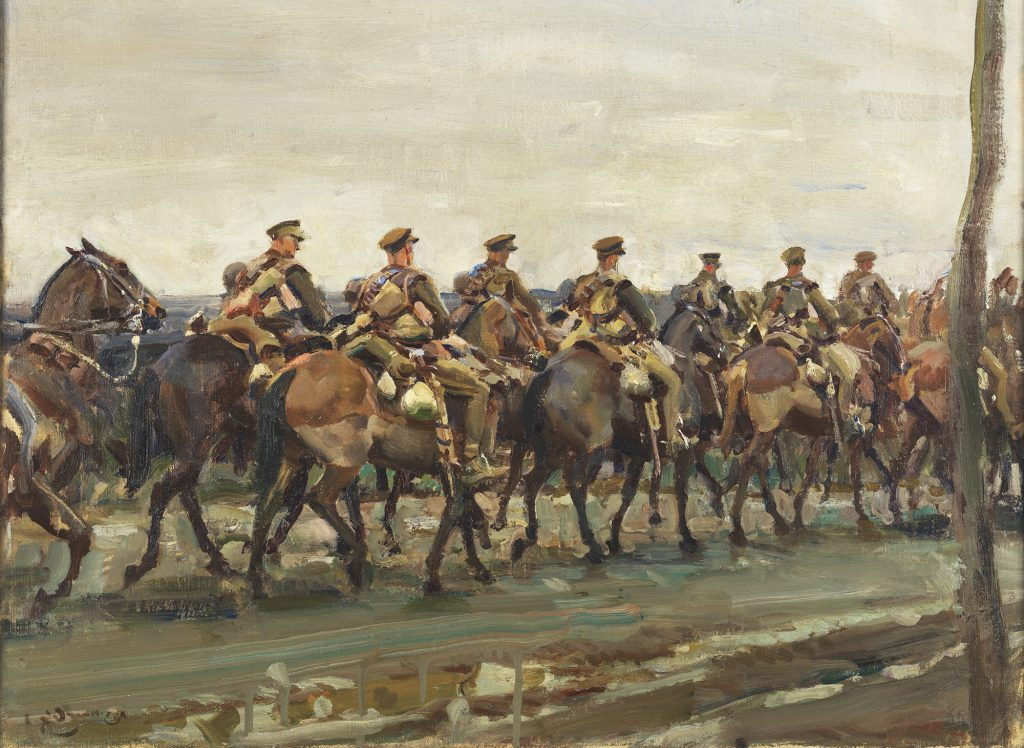 Painting of cavarly on the march