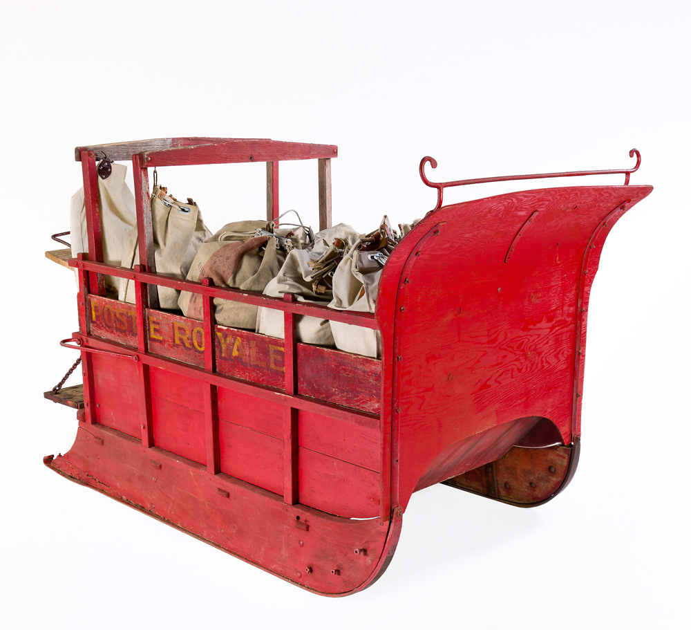 Sleigh used to carry mail