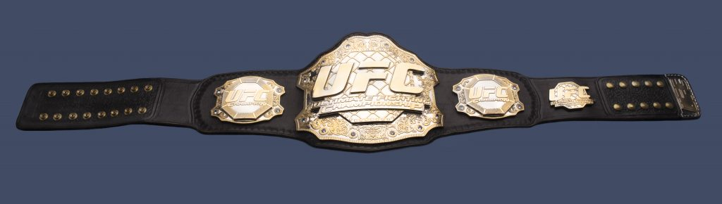 UFC 94 title belt won by Georges St-Pierre