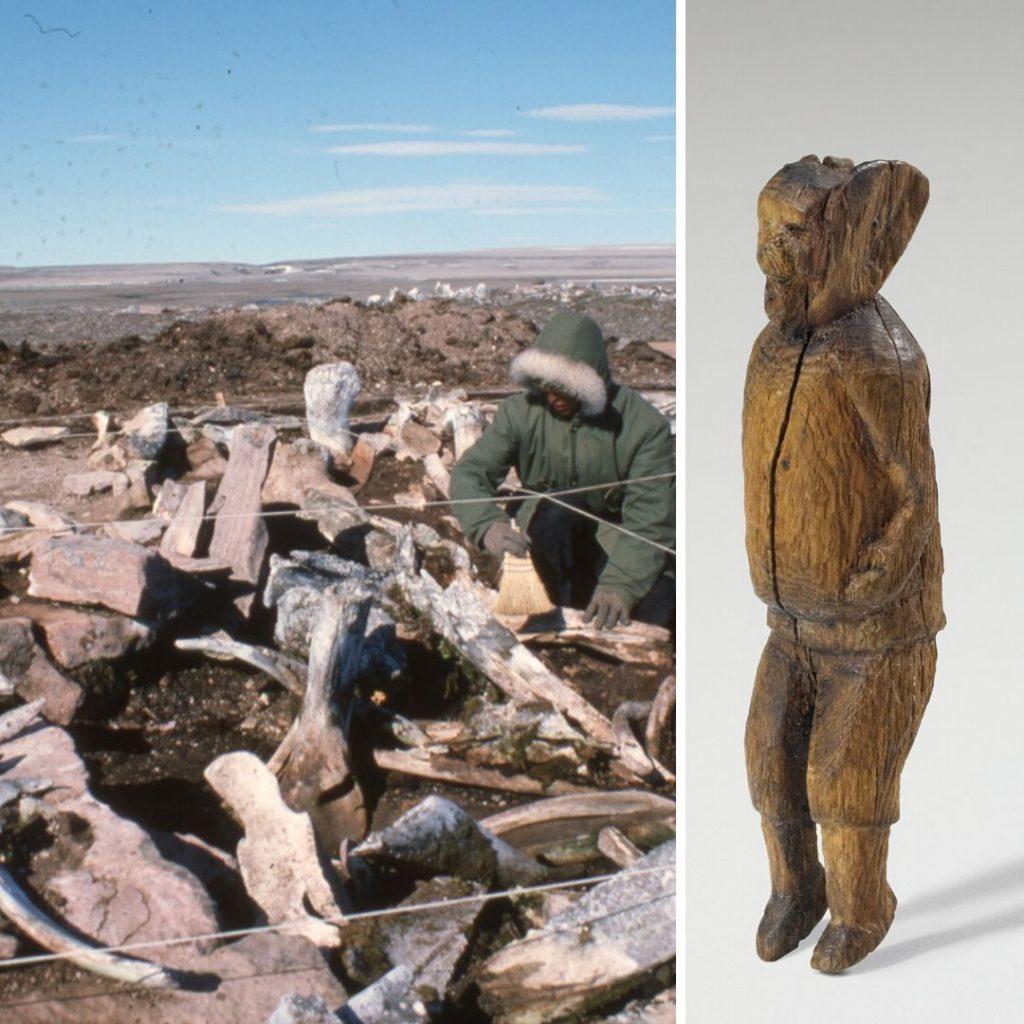 Daniel Weetaluktuk and figurine