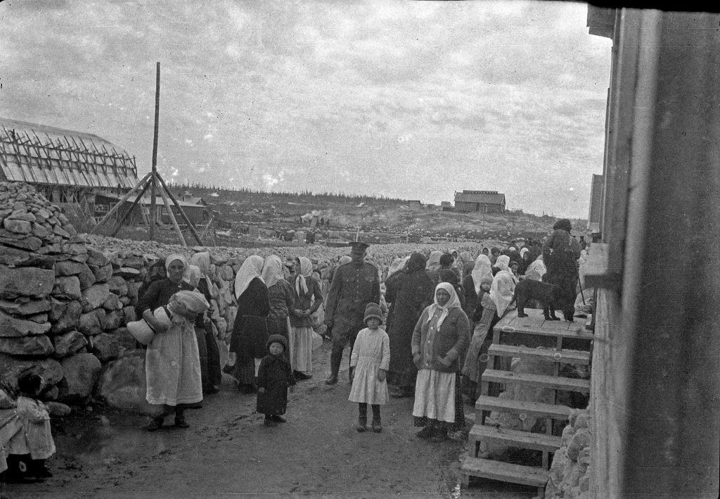 Women and children prisoners at Spirit Lake Internment Cam