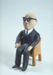 Montreal belediye başkanı Jean Drapeau'nun halk sanatı heykeli