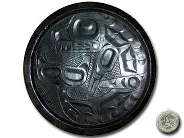 Argillite - Haida Platter - VII B 763.:: Argilite - Plateau ha