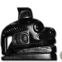 "Argillite - Totem of Killer Whale - 3"" VII B 1920.:: Argilite - M"