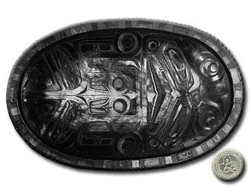 Argillite - Sculpin Platter - VII B 1938.:: Argilite - Plateau