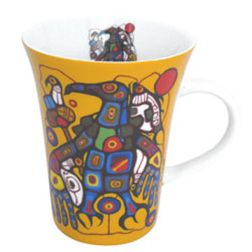 Norval Morrisseau Mug - Man Changes into Thunderbird:: Tasse Norval Morrisseau - Man Changes into Thunderbird