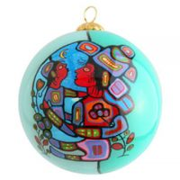 Norval Morrisseau Glass Ornament - Mother & Child:: Ornement de verre Norval Morrisseau - Mother & Child